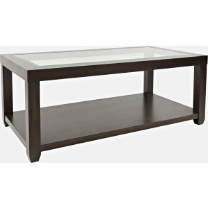 Urban Icon Rectangle Castered Cocktail Table - Merlot