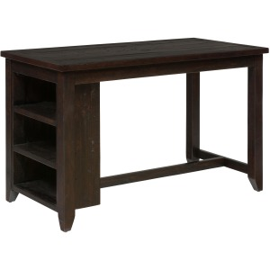 Prospect Creek Counter Height Table with 3 Shelf Storage