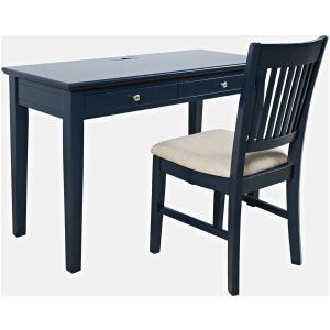 Craftsman Power Desk & Chair - Navy Blue