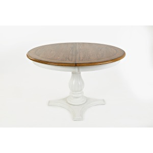 Castle Hill Round to Oval Pedestal Dining Table