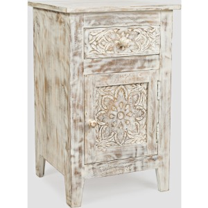 Global Archive Devi Accent Table - Weathered White