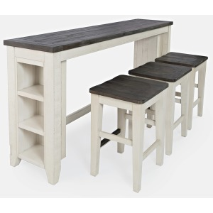 Madison County 4pc Sofa Console & Stool Set