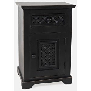 Global Archive Decker Cabinet Accent Table - Antique Black