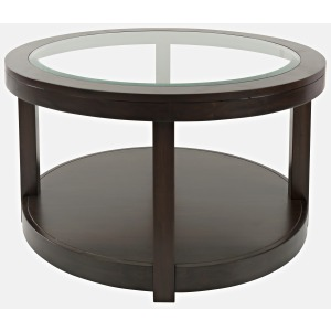 Urban Icon Round Castered Cocktail Table - Merlot
