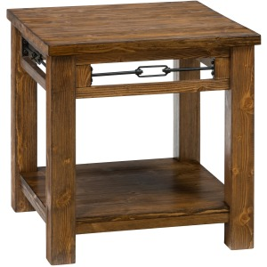 San Marcos Rectangle End Table made of Solid Pine
