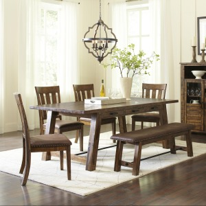 Cannon Valley Trestle Dining Table & Chair/Bench Set