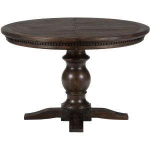 Geneva Hills Round to Oval Table with Pedastal Base