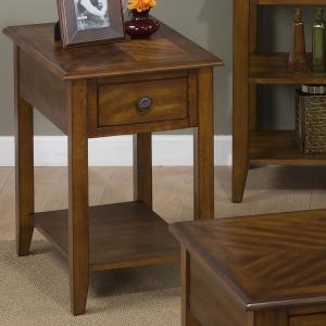 Medium Brown Chairside Table