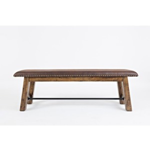 Cannon Valley Bench with Upholstered Seat
