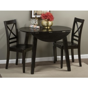 Simplicity Round Table and 2 Chair Set with X Back Chairs