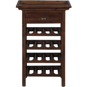 Urban Lodge Brown Wine Rack with Removable Tray Top