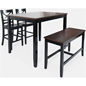 Asbury Park 4pk Counter Dining Set - Autumn & Black