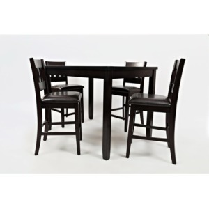 Dark Rustic Prarie Dark Rustic Prairie Counter Height Table and Four Stools