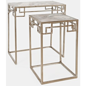 Global Archive Marble Nesting - Set of 2 Small Table