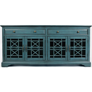 "Craftsman Antique 70"" Media Unit - Antique Blue"