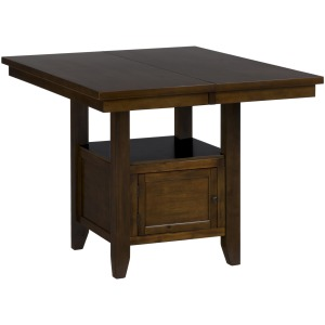Taylor Brown Cherry Double Header Storage Counter Table with 2 Doors
