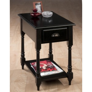Antique Black Transitional Antique Black Chairside Table