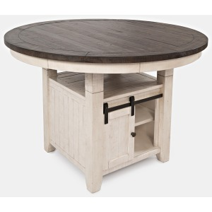 Madison County High/Low Round Dining Table