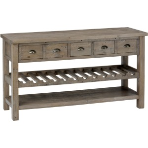 Slater Mill Pine Wine Rack and Server with Drawers and Shelf