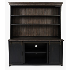 Madison County Server & Hutch - Vintage Black