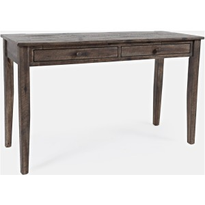 Global Archive Clark 2 Drawer Desk - Burnished Chestnut