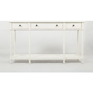 "Stately Home 60"" Console - Antique White"