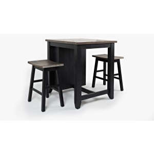 Madison County 3pc Counter Height Set