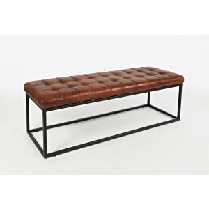Global Archive Leather Ottoman