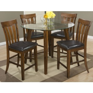Plantation 48 Round Counter Height Table and Stool Set