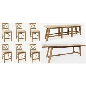Telluride 8 PC Counter Height Dining Set