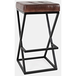 Global Archive Leather Stool