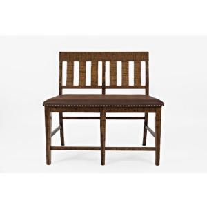 Cannon Valley Slatback Counter Bench