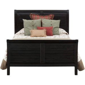 Prospect Creek Queen Sleigh Bed made of Reclaimed Pine