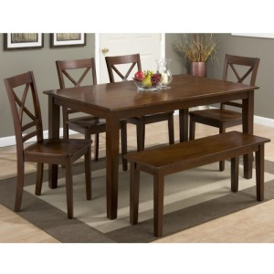 Simplicity Rectangle Dining Table and Chair Set with Bench