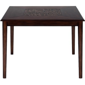 Baroque Brown Contemporary Counter Height Square Table with Mosaic Inlay