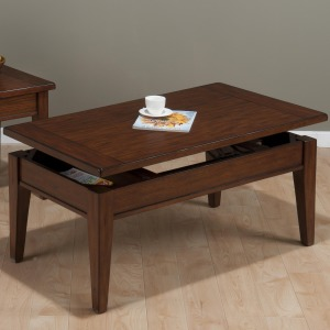 Dunbar Oak Casual Styled Lift Top Cocktail table with Oak Veneers