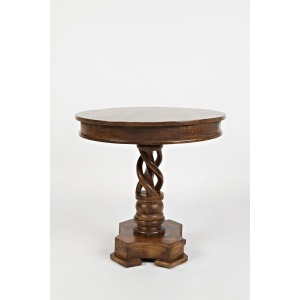 Global Archive Hand Carved Pedestal Table