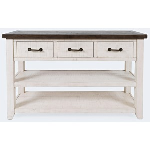Madison County 3 Drawer Console-Vintage White