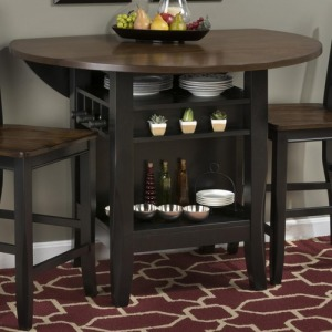 Braden Birch 48 Round Counter Height Table with Drop-Down Leaf