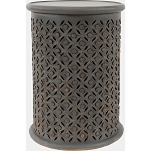Global Archive Drum Table - Antique Grey
