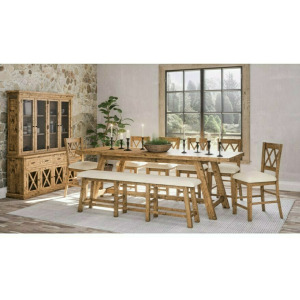 PGN 1801 table, bench, 6 chairs