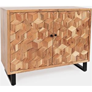 Geometrix 2 Door Accent Cabinet