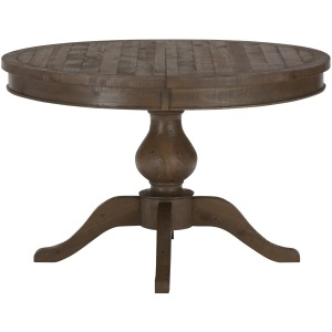 Slater Mill Pine Reclaimed Pine Round to Oval Dining Table
