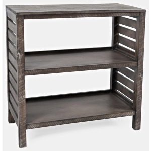 Global Archive Clark Slatted Bookcase - Stonewall Grey