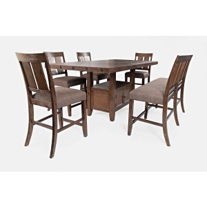 Mission Viejo Counter Height Table and Chair Set with Bench