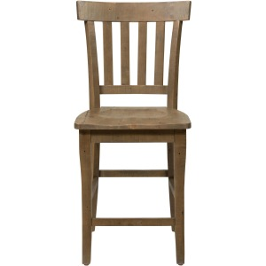 Slater Mill Pine Slat Back Stool
