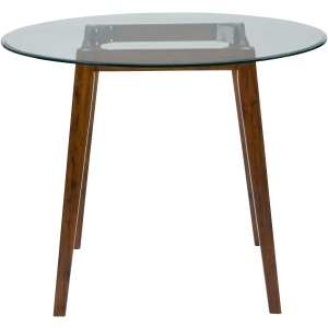 Plantation 48 Round Counter Height Table with Glass Top