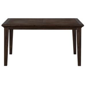 Geneva Hills Wire-Brushed Dining Table that Seats 6 with Removable Leaf