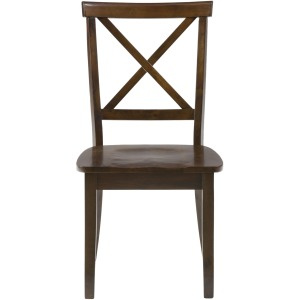 Taylor Cherry X Back Chair with Wood Seat