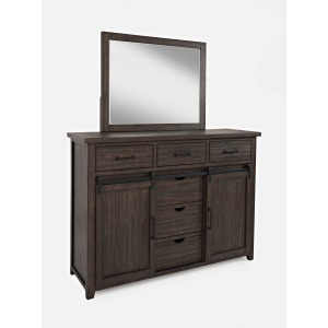 Madison County Door Dresser & Mirror Set
